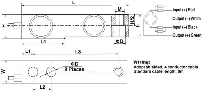 BM8D Тензодатчик размер