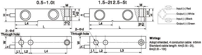 HM8C Тензодатчик размер