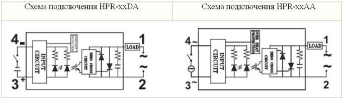 Схема подключения HPR-DA и