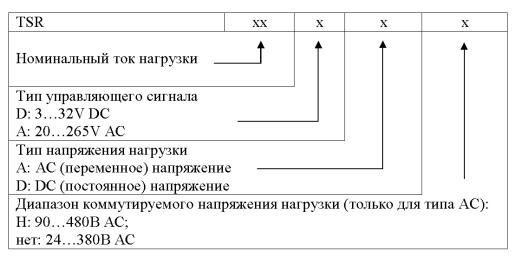 Твердотельное полупроводниковое реле TSR серии производства Fotek, способ заказа